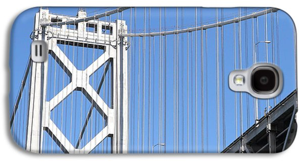 Landmarks Photographs Galaxy S4 Cases - San Francisco Bay Bridge at The Embarcadero . 7D7756 Galaxy S4 Case by Wingsdomain Art and Photography