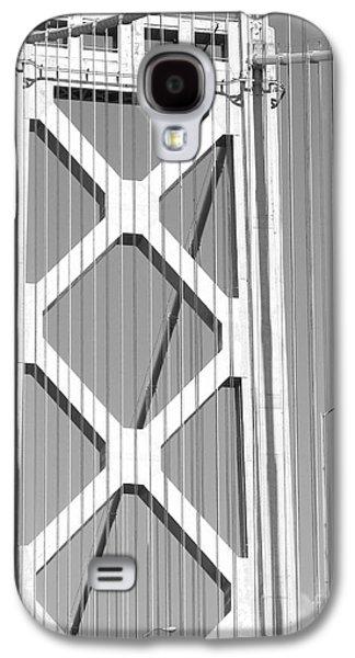Landmarks Photographs Galaxy S4 Cases - San Francisco Bay Bridge at The Embarcadero . Black and White Photograph . 7D7760 Galaxy S4 Case by Wingsdomain Art and Photography
