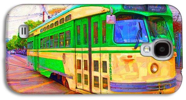 Wingsdomain Galaxy S4 Cases - San Francisco F-Line Trolley Galaxy S4 Case by Wingsdomain Art and Photography