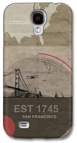 Transportation Pyrography Galaxy S4 Cases - San Fransisco Galaxy S4 Case by Naxart Studio