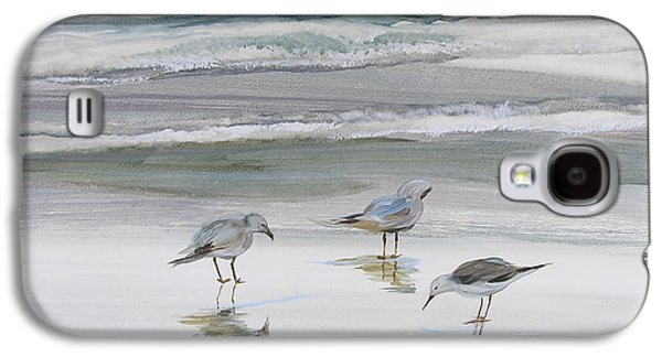 Original Art Paintings Galaxy S4 Cases - Sandpipers Galaxy S4 Case by Julianne Felton