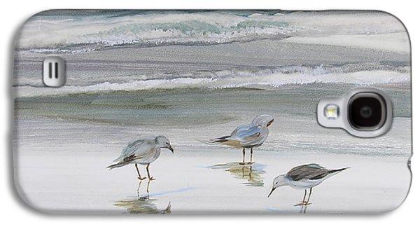 Seabirds Galaxy S4 Cases - Sandpipers Galaxy S4 Case by Julianne Felton