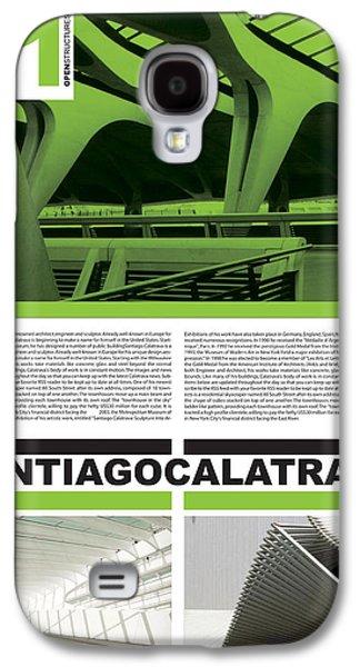 Santiago Calatrava Poster Galaxy S4 Case by Naxart Studio