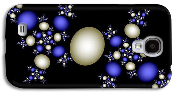 Digital Art Greeting Cards Galaxy S4 Cases - Sapphires and Pearls Galaxy S4 Case by Sandra Bauser Digital Art