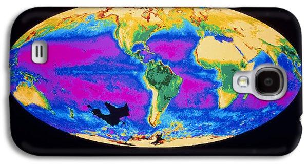 Phytoplankton Photographs Galaxy S4 Cases - Satellite Image Of The Earths Biosphere Galaxy S4 Case by Dr Gene Feldman, Nasa Gsfc