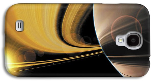 Astronomy Paintings Galaxy S4 Cases - Saturn Glory Galaxy S4 Case by Don Dixon