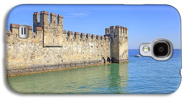 Castle Photographs Galaxy S4 Cases - Scaliger castle wall of Sirmione in Lake Garda Galaxy S4 Case by Joana Kruse