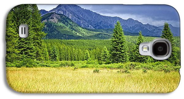 Mountain View Galaxy S4 Cases - Scenic view in Canadian Rockies Galaxy S4 Case by Elena Elisseeva