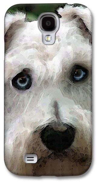 Dog Rescue Digital Galaxy S4 Cases - Schnauzer Art - Smokey Galaxy S4 Case by Sharon Cummings