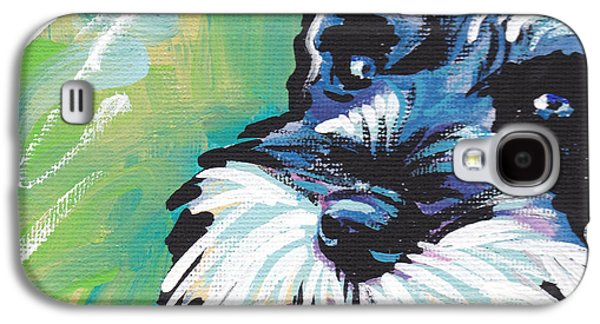 Pepper Paintings Galaxy S4 Cases - Schnauzer  Galaxy S4 Case by Lea