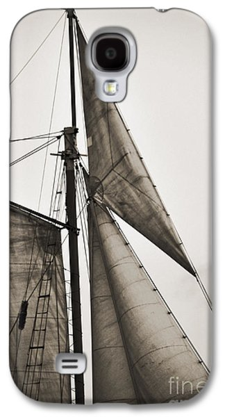 Tall Ship Galaxy S4 Cases - Schooner Pride Tall Ship Yankee Sail Charleston SC Galaxy S4 Case by Dustin K Ryan