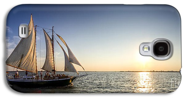 Tall Ship Galaxy S4 Cases - Schooner Welcome Sunset Charleston SC Galaxy S4 Case by Dustin K Ryan