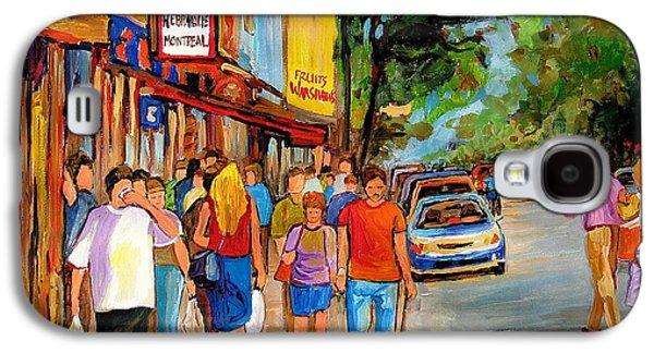 The Main Montreal Galaxy S4 Cases - Schwartzs Hebrew Deli Galaxy S4 Case by Carole Spandau