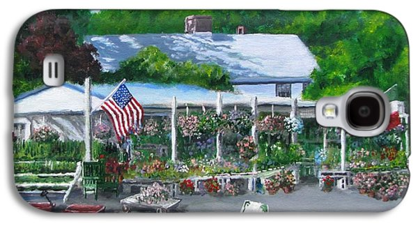 Farmstand Paintings Galaxy S4 Cases - Scimones Farm Stand Galaxy S4 Case by Jack Skinner
