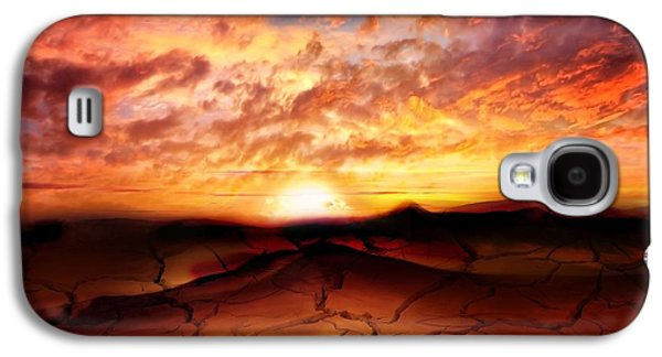 Dreamscape Digital Art Galaxy S4 Cases - Scorched Earth Galaxy S4 Case by Photodream Art