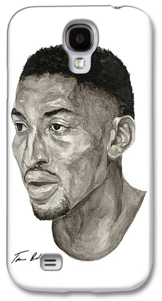 Pippen Galaxy S4 Cases - Scottie Pippen Galaxy S4 Case by Tamir Barkan