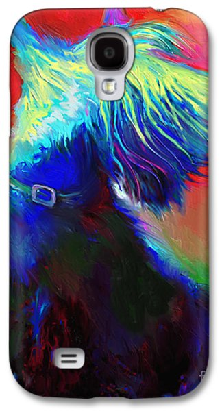 Scottish Dog Galaxy S4 Cases - Scottish Terrier Dog painting Galaxy S4 Case by Svetlana Novikova