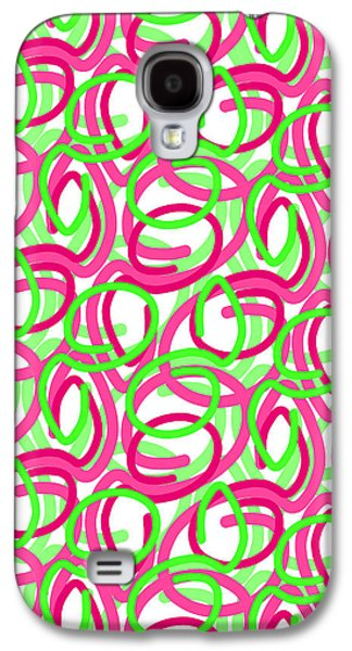 Louisa Galaxy S4 Cases - Scroll Galaxy S4 Case by Louisa Knight