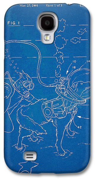Vacation Digital Art Galaxy S4 Cases - Scuba Doggie Patent Artwork 1893 Galaxy S4 Case by Nikki Marie Smith