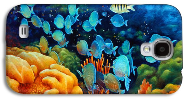 Brain Paintings Galaxy S4 Cases - Sea eScape II - Wayward Fish Galaxy S4 Case by Nancy Tilles