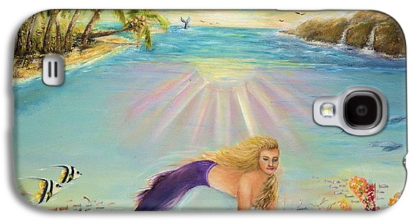 Angel Mermaids Ocean Galaxy S4 Cases - Sea Mermaid Goddess Galaxy S4 Case by Bernadette Krupa