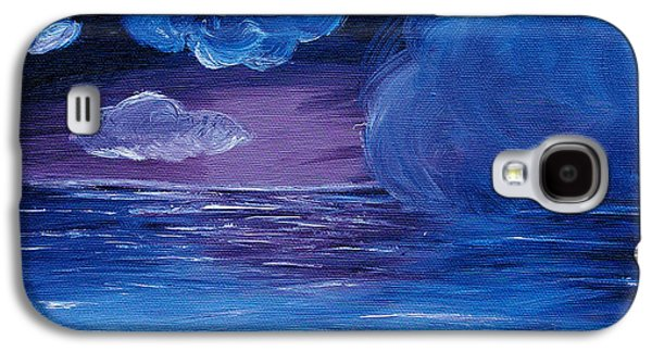 Sailboat Ocean Paintings Galaxy S4 Cases - Sea Storm Galaxy S4 Case by Jera Sky