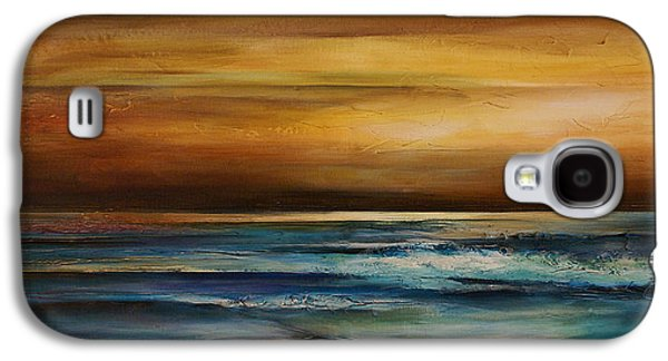 Mood Paintings Galaxy S4 Cases - Seascape 1 Galaxy S4 Case by Michael Lang
