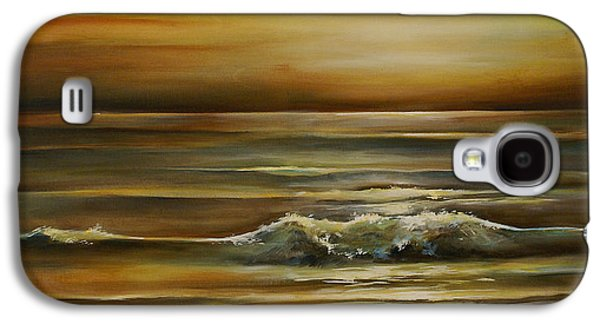 Mood Paintings Galaxy S4 Cases - Seascape 2 Galaxy S4 Case by Michael Lang