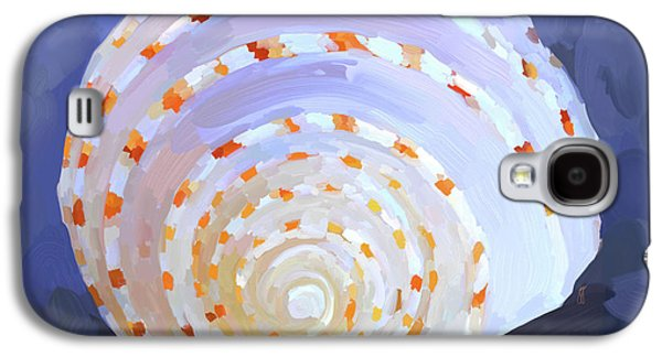 Terra Paintings Galaxy S4 Cases - SeaShell IV Galaxy S4 Case by Jai Johnson