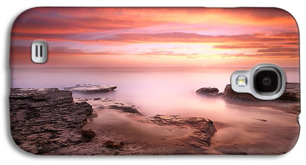 Sun Galaxy S4 Cases - Seaside Reef Sunset 4 Galaxy S4 Case by Larry Marshall