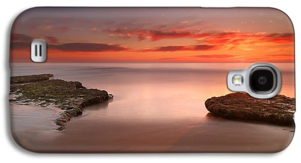 Sun Galaxy S4 Cases - Seaside Reef Sunset 6 Galaxy S4 Case by Larry Marshall