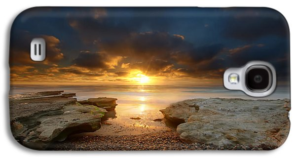 Sun Galaxy S4 Cases - Seaside Reef Sunset 9 Galaxy S4 Case by Larry Marshall
