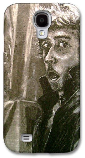 Statue Portrait Drawings Galaxy S4 Cases - Self Portrait vs Long Hair Galaxy S4 Case by Nils Beasley