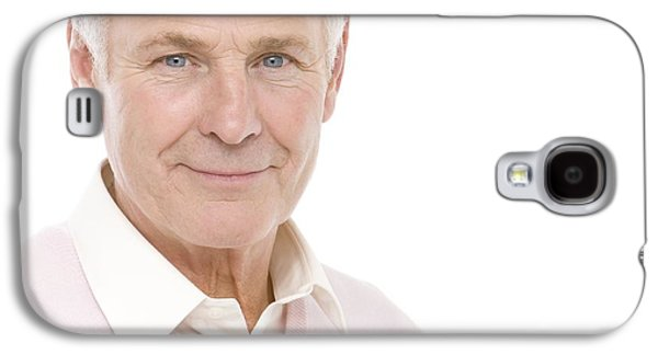 Gray Hair Galaxy S4 Cases - Senior Man Galaxy S4 Case by