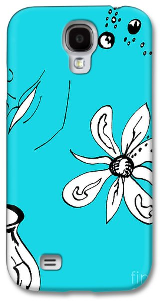 Serenity In Blue Galaxy S4 Case by Mary Mikawoz