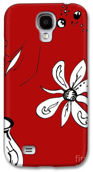 Serenity In Red Galaxy S4 Case by Mary Mikawoz