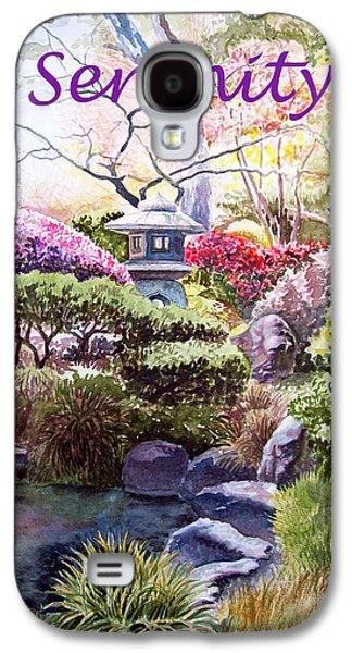 Blessings Paintings Galaxy S4 Cases - Serenity Galaxy S4 Case by Irina Sztukowski