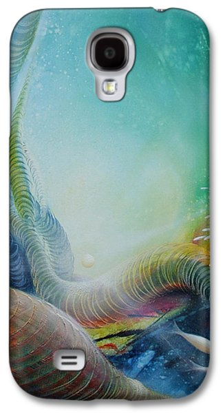 Macrocosm Paintings Galaxy S4 Cases - Serpula Spiralis Galaxy S4 Case by Drazen Pavlovic
