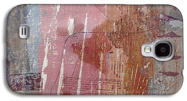 Abstract Digital Mixed Media Galaxy S4 Cases - Shabby Chic Galaxy S4 Case by Ruth Palmer