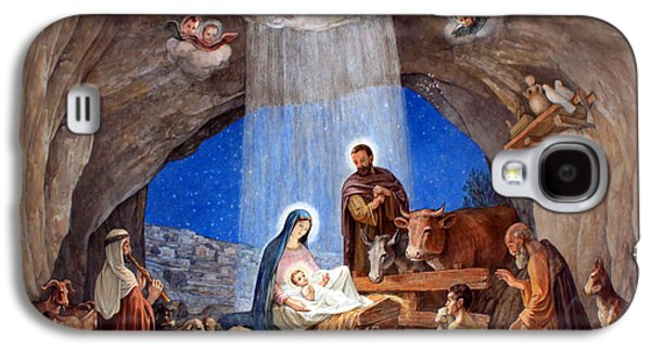 Church Drawings Galaxy S4 Cases - Shepherds Field Nativity Painting Galaxy S4 Case by Munir Alawi