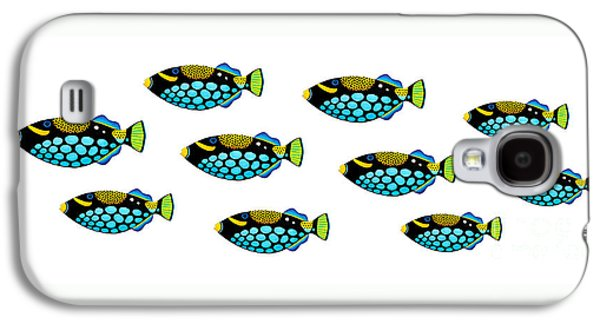 Shoal Of Clown Triggerfish  Galaxy S4 Case by Opas Chotiphantawanon