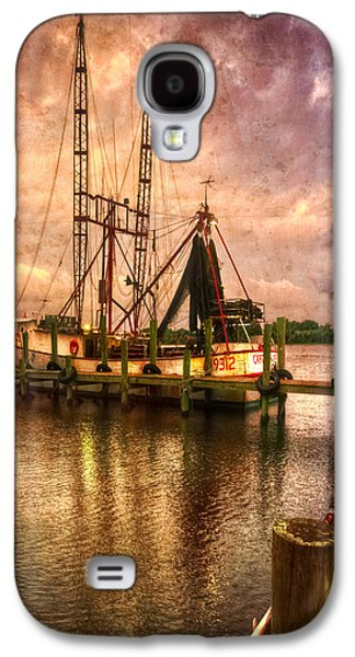 Transportation Photographs Galaxy S4 Cases - Shrimp Boat at Sunset II Galaxy S4 Case by Debra and Dave Vanderlaan