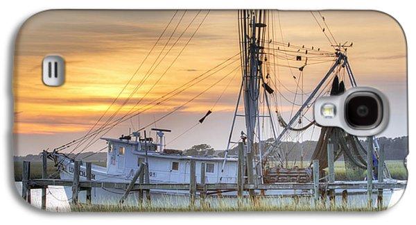 Sunsets Digital Art Galaxy S4 Cases - Shrimp Boat Sunset Charleston SC Galaxy S4 Case by Dustin K Ryan