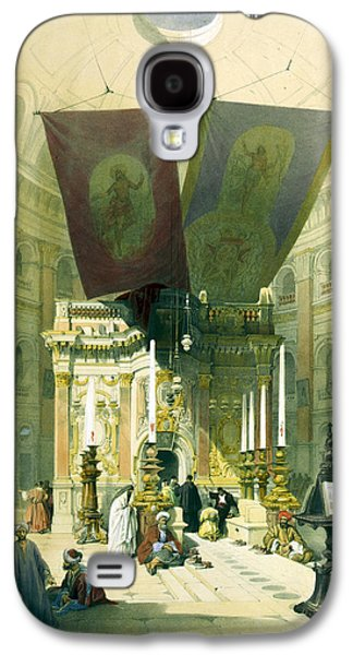 Holy Drawings Galaxy S4 Cases - Shrine of the Holy Sepulchre April 10th 1839 Galaxy S4 Case by Munir Alawi