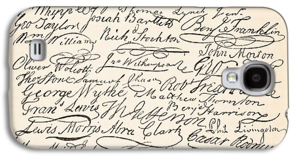 Signatures Attached To The American Declaration Of Independence Of 1776 Galaxy S4 Case by Founding Fathers