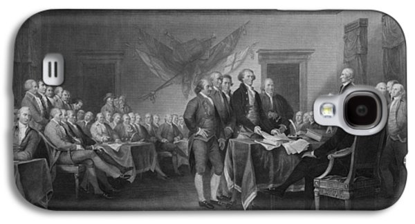 Americans Mixed Media Galaxy S4 Cases - Signing The Declaration of Independence Galaxy S4 Case by War Is Hell Store