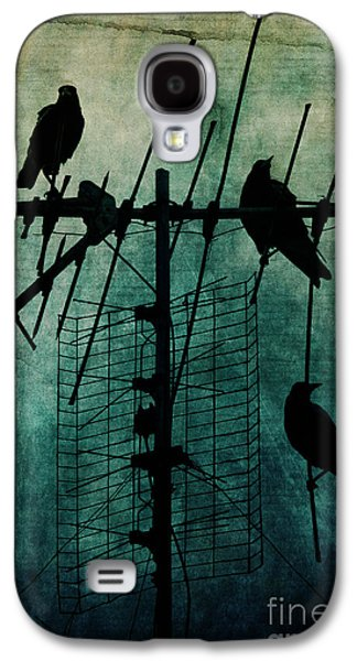 Blue Green Wave Galaxy S4 Cases - Silent Threats Galaxy S4 Case by Andrew Paranavitana