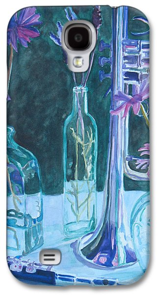 Depression Paintings Galaxy S4 Cases - Silvery Night Music Galaxy S4 Case by Jenny Armitage