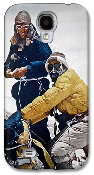 Climbing Galaxy S4 Cases - Sir Edmund Hillary Galaxy S4 Case by Granger