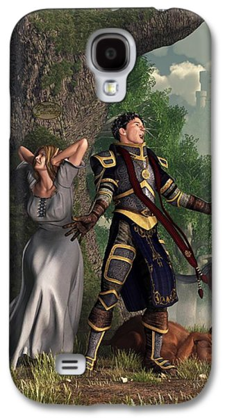 Camelot Galaxy S4 Cases - Sir Justinus The Singing Knight Galaxy S4 Case by Daniel Eskridge